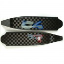C4 Blue Flap HT Carbon Fins