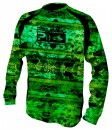 Pelagic Coral Camo Green Vaportek Long Sleeve