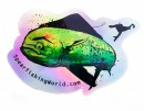Spearfishing World Holographic Mahi Sticker