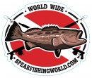 Spearfishing World Die-cut Logo Sticker Small