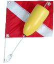 Torpedo Two-Piece Float With Nylon Flag