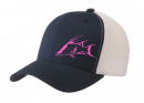 Inletville Mesh Pink Hogfish Blue Spearfish Hat