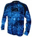 Pelagic Hexed Camo Blue Vaportek Long Sleeve