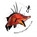 Spearfishing World Hog Sticker