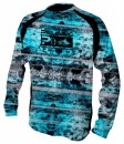 Pelagic Coral Camo Blue Vaportek Long Sleeve