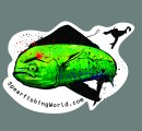 Spearfishing World Mahi Sticker