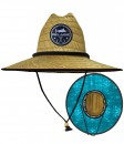 Pelagic Baja Straw Sun Hat Marlin Hexed